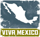 Vintage Viva Mexico Sign — Stock Vector