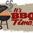 It's BBQ Grilling Time — Vector de stock #9259005