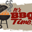 It's BBQ Grilling Time — Stockvectorbeeld