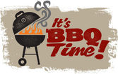 It's BBQ Grilling Time — Vector de stock