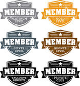 Vintage Membership Badges — Stockvector