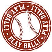 Play Ball Baseball Stamp — Stock Vector
