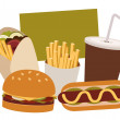 Stock Vector: Junk Foods