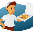 Pizza Delivery Man — Stock Vector