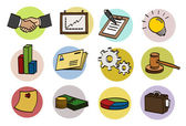 Business doodle icon set — Stock Vector