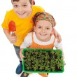 Kids growing their own food — Stock Photo #10382787