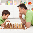 Royalty-Free Stock Photo: Playing chess with dad