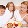 Royalty-Free Stock Photo: Breakfast in bed for mother