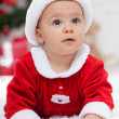 Christmas baby girl — Stockfoto