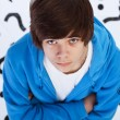 Stock Photo: Quest of life - teenager boy wondering