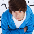 Quest of life - teenager boy wondering — Stock Photo