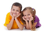 Happy kids - boy and girl — Stock Photo