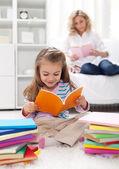 Okuma alışkanlığı şekillendirme — Stok fotoğraf