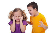 Quarreling kids — Stock Photo