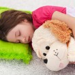 Sweet tranquility - young girl sleeping — Stock Photo