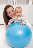 Young woman and baby — Stock Photo