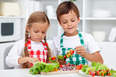 Preparing a healthy meal — Stock Photo