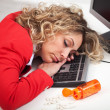 Asleep at the office — Stock Photo