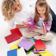 Selecting a story to read — Stock Photo #9369490