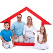 Stock Photo: Young family in their home concept