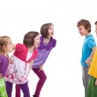 Kids confronting and mocking each other — Stock Photo