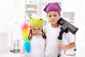 We hate these cleaning days — Stock Photo