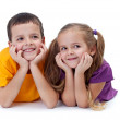 Smiling siblings — Stock Photo