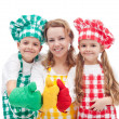 Colorful chefs — Stock Photo