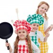 Happy chefs family — Stock Photo