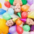 Party kids and their mother — Stock Photo #9854942