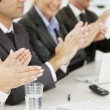 Stock Photo: Business applauding