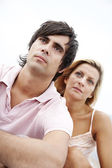 Serious couple — Stock Photo