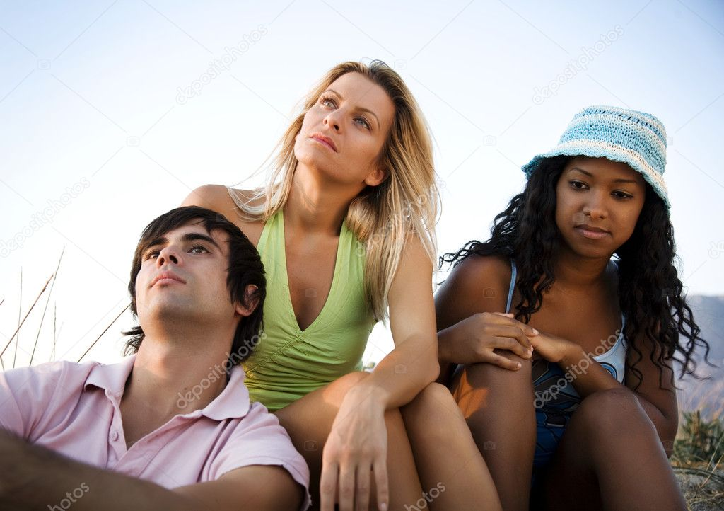 Focus is on the person in the middle — Stock Photo #8406892