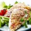 Grilled chicken brest fillet - Stock Photo