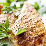 Grilled chicken brest fillet — Stock Photo #9096556