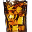 Cola with ice — Stock Photo