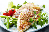 Grilled chicken brest fillet — 图库照片