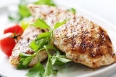 Grilled chicken brest fillet — Stock Photo