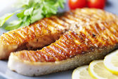 Grilled salmon steak — Photo