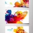 Stock Vector: Set of abstract colorful gift cards.