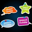 Royalty-Free Stock Imagen vectorial: Set of speech bubbles.