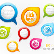 Royalty-Free Stock Vector Image: Set of colorful labels.