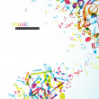 Royalty-Free Stock Imagen vectorial: Abstract background with colorful tunes.