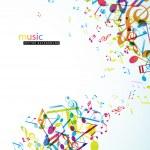 sfondo astratto con melodie colorate — Vettoriale Stock