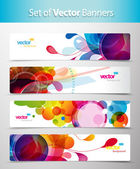 Set of abstract colorful circle illustrations. — Stock Vector