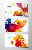 Set of abstract colorful gift cards. — Stock Vector