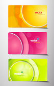 3 separate gift cards with circles. — Stock Vector