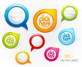 Set of colorful labels. — Vettoriale Stock