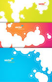 Set of gift cards with bubbles signs. — Stock Vector