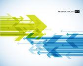 Abstracte achtergrond met kleurrijke pijlen. — Vector de stock